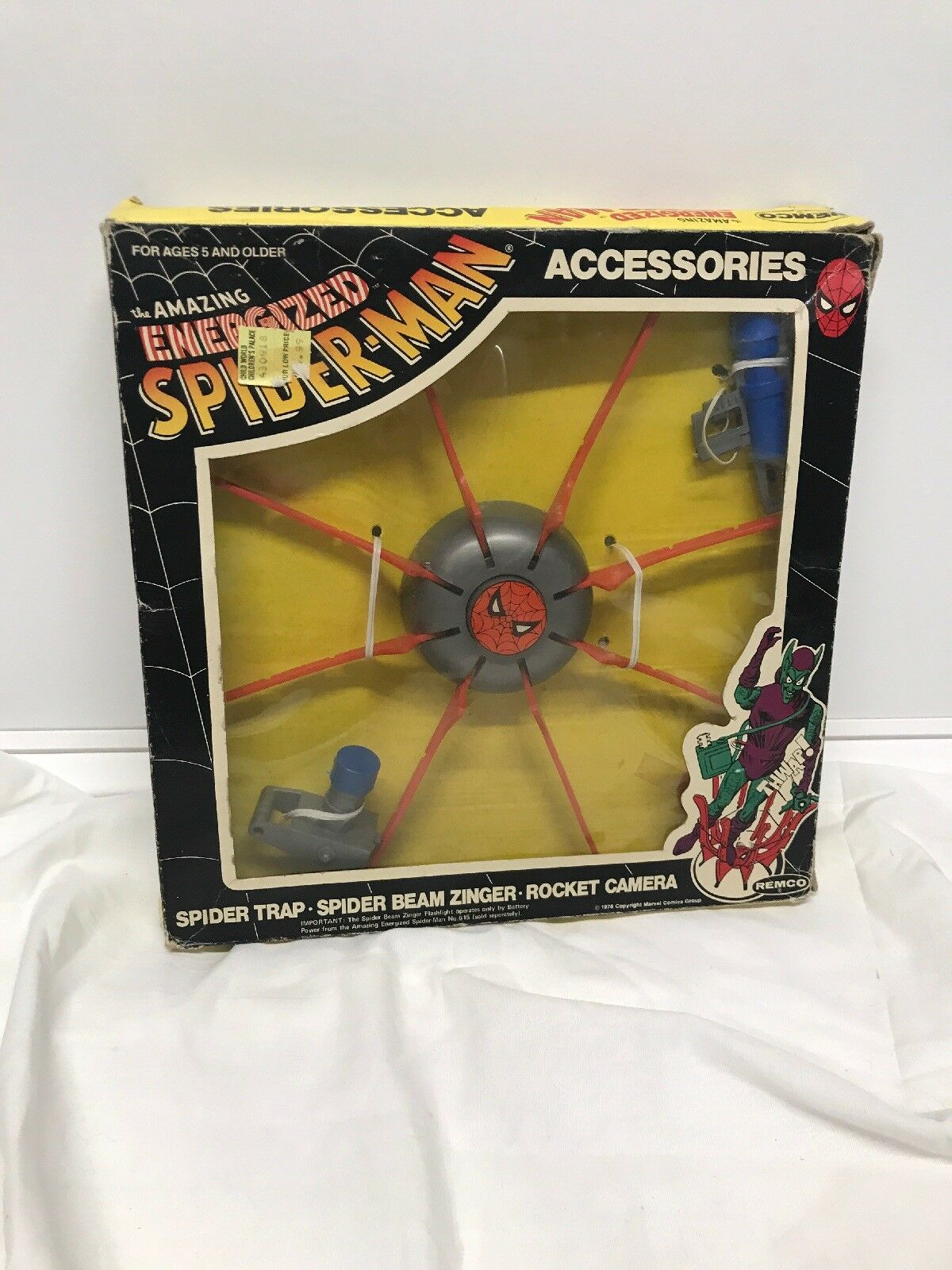 Vintage 1978 Remco THE AMAZING SPIDER-MAN ACCESSORIES Spider Trap