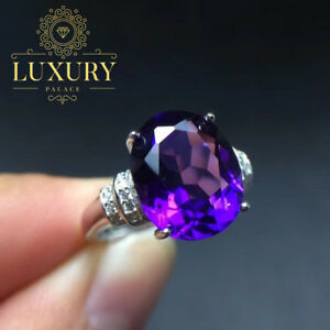 Natural-Amethyst-5-Carat-Gem-Solid-925-Sterling-Silver-Beautiful-Ring-for-Women