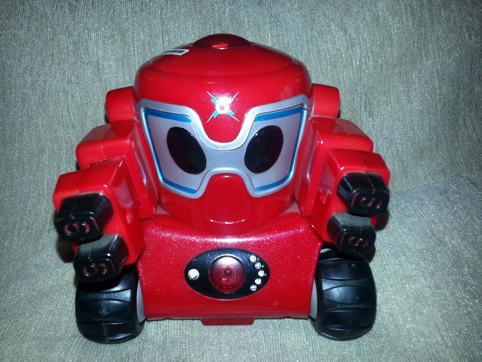 RUMBLE ROBOT Diamond Series LUG LUG LUG NUT Battle Bot RED TEAM Fight Toy TRENDMASTERS 3995b5