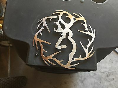 Plasma cut deer with antler ring cut out Metal Wall Art Home Decor : metal antlers wall art - www.pureclipart.com