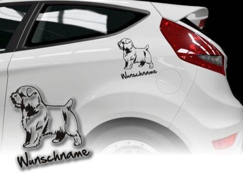 Aufkleber Norfolk Terrier  H302 Hundeaufkleber Wunschname Auto
