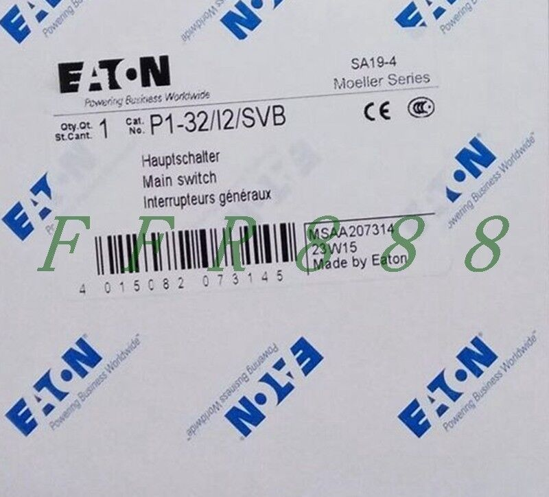 ONE NEW EATON MOLELLER P1-32 I2 SVB