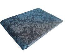 Jacquard Leinen Tischdecke 147x250 cm Azurblau Blumenmuster