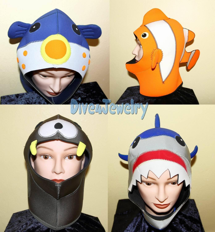 Scuba Diving Dive Hood 3mm Seal Nemo Shark Cute Animal Party Costume Wetsuit AUS