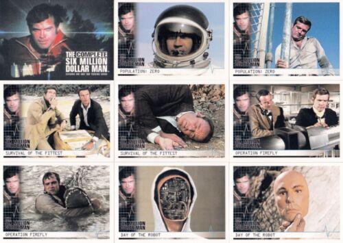 THE COMPLETE SIX MILLION DOLLAR MAN SEASONS 1 /& 2 2004 BASE CARD SET OF 72 TV