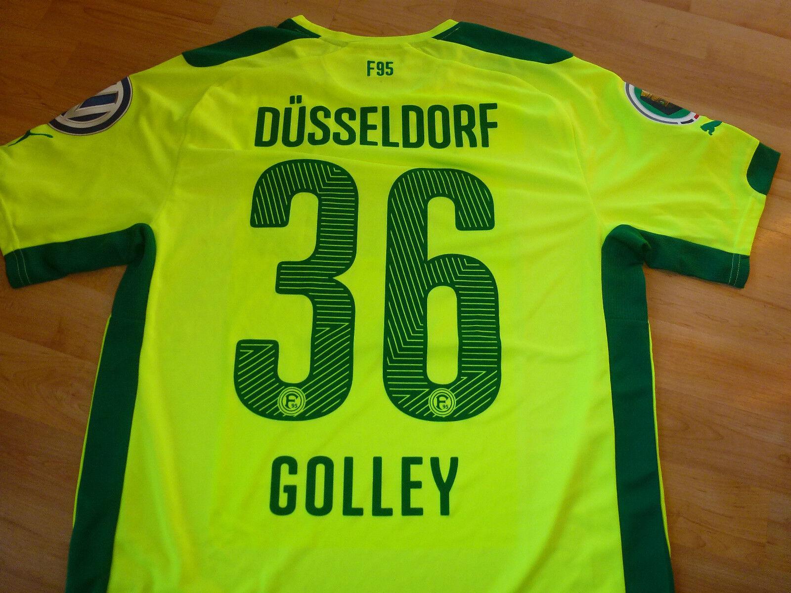 Fortuna Düsseldorf Pokal Trikot gelb  36 Golley 14 15  Match Preparot DFB Patch