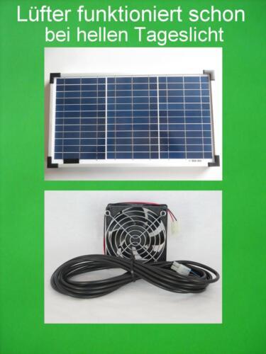 20w Ventola Solare Solare Serra VENTOLA VENTILATORE VENTILAZIONE Gartenhaus sistema