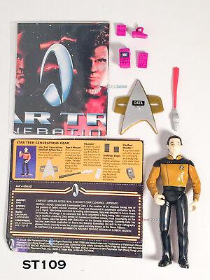 "Star Trek Lieutenant Cmdt Data in Film uniforme 4.5/"" Action Figure 1994 Playmates"