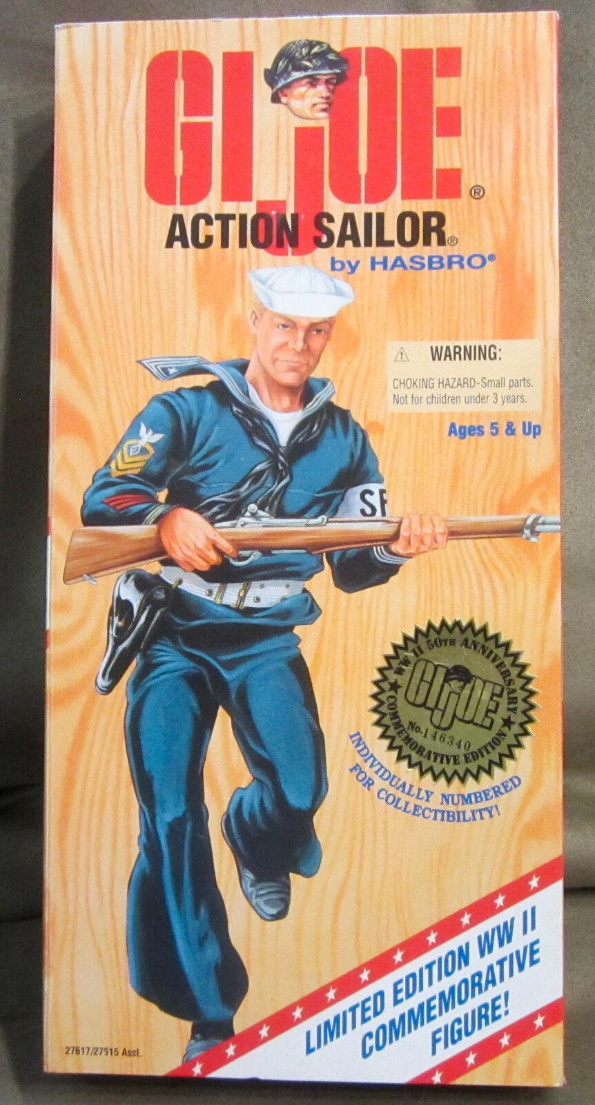 Hasbro 1995 G.I. Joe Action Sailor World War II Limited Edition 12  Figure NEW