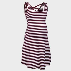 New-Look-Maternity-Stripe-Cotton-Short-Sun-Summer-Holiday-Dress-Nightwear-Pyjama