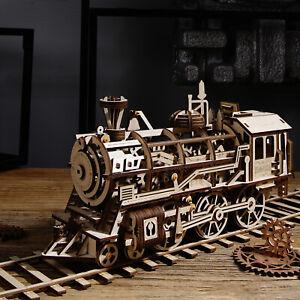 ROKR Zugmodelle aus Holz DIY mechanischer Lokomotivensatz
