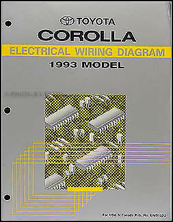 1993 Toyota Corolla Wiring Diagram Manual Original Electrical Schematics Oem 93 Ebay