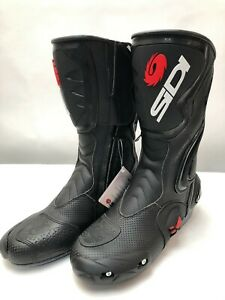 Sidi-Cobra-Air-Black-Motorcycle-Boots-Touring-race-size-45