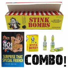 (36) Stink Bombs + (1) Itching Itch Powder Pack ~ COMBO ~