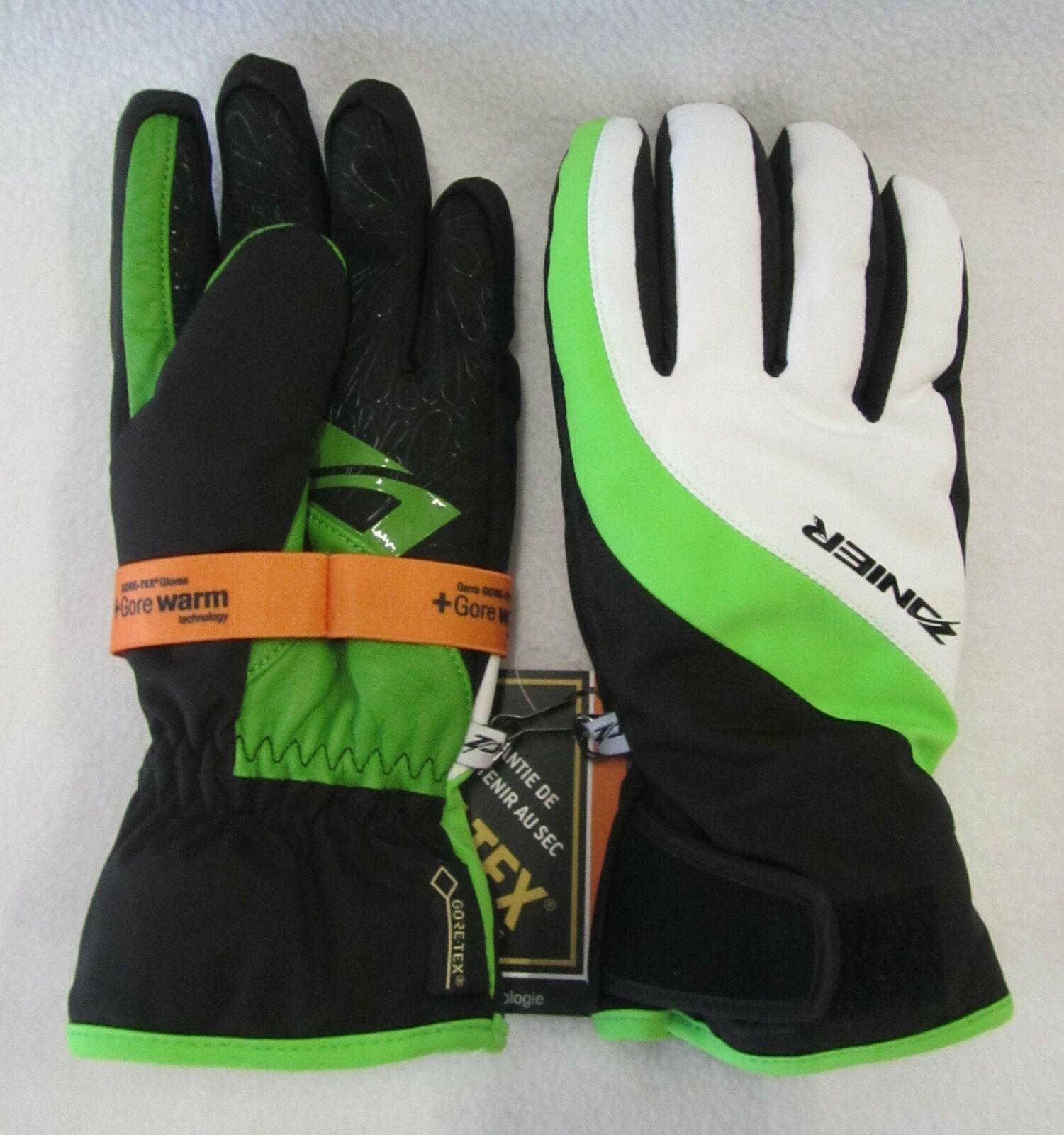 Wohombres Zanier   Lienz Goretex  Guantes de Esquí SnowTablero (Negro blancoo verde) Medio 7  precios ultra bajos