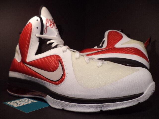 Nike Air Max LEBRON IX 9 MIAMI HEAT HOME PE SAMPLE WHITE RED BLACK SILVER DS 16