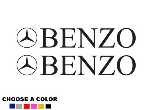 "Mercedes Benz Benzo 2X 9/"" Logo badge window Decal Stickers AMG Class E C Benzo"