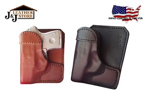 Details about J&J CUSTOM KIMBER MICRO 380 FORMED WALLET STYLE PREMIUM  LEATHER POCKET HOLSTER