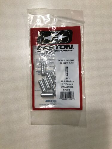 New Easton AL//RPS 8-32 2413 Insert for All Arrow Shafts 12 POINT INSERTS