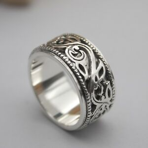 Classic Old English Silver Ring-12mm