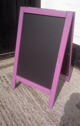 Pavement Sign Blackboard 70 x 40cm Premium Purple Wooden A Board