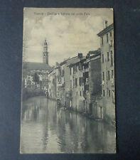 CARTOLINA VICENZA BASILICA PONTE FURO VIAGGIATA DEL 1915 SUBALPINA AAA