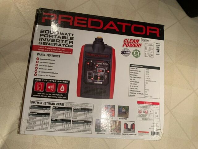 BRAND NEW PREDATOR 62523 SUPER QUIET INVERTER PORTABLE GENERATOR