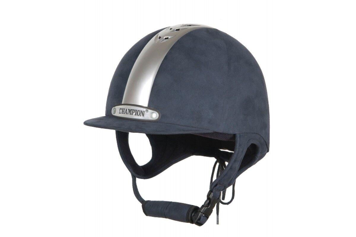 Champion Ventair Equitación Sombrero Azul Marino Plateado 51cm (6 1 4)