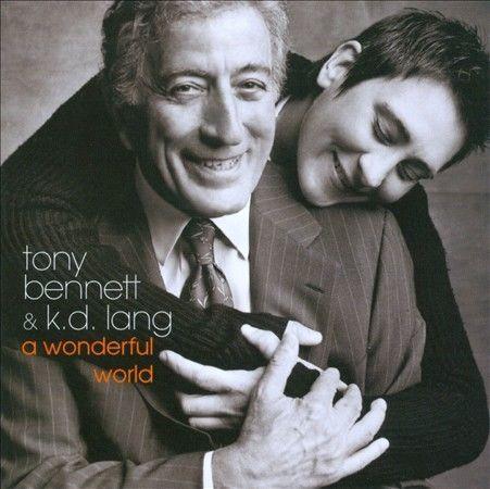 1 of 1 - TONY BENNETT & K.D. LANG - A WONDERFUL WORLD. like new.
