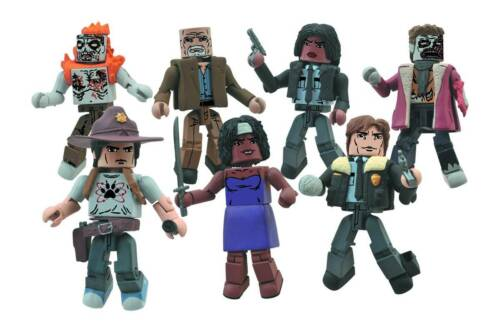 Walking Dead Minimates s6 Deputy Michonne /& Winter Zombie Diamond 812914