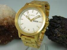 Nixon the spur Day date visualización dorado reloj Hombre