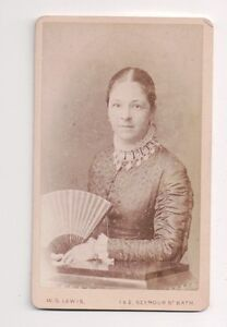 Vintage-CDV-Unknown-Aristocratic-Lady-1883-Walter-G-Lewis-Photo-Bath-England