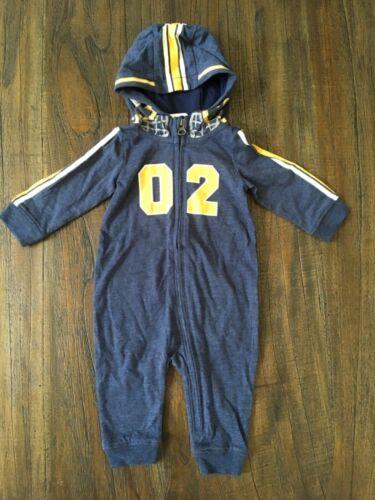 Gymboree baby boy 3-6mo football helmet one piece  hoodie Navy Blue