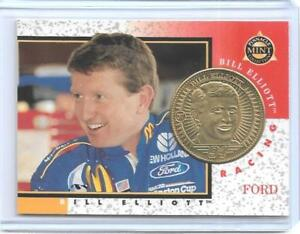 AWESOME-1998-PINNACLE-MINT-BILL-ELLIOTT-BRASS-COIN-amp-CARD-7-NASCAR-LEGEND-94