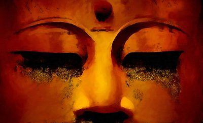 NEW MEDITATING BUDDHA FACE PAINTING WALL ART DECOR ARTWORK PREMIUM PRINT POSTER