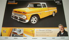 1963 Chevrolet C-10 Pickup truck print (modified,yellow)