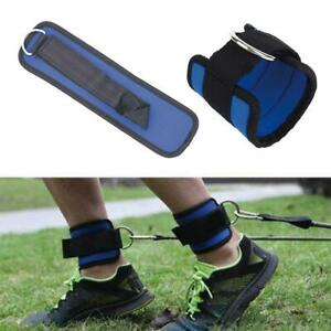 1X-Resistance-Band-D-ring-Ankle-Straps-Leg-Power-Training-Fitness-Equipment