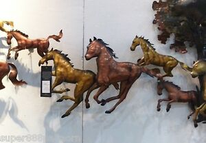 Image Is Loading Running Horse Wall Art Metal Home Sculpture