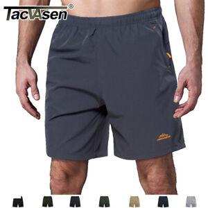Mens-Quick-Dry-Shorts-Sports-Jogger-Shorts-W-3-Zipper-Pockets-Beach-Surf-Shorts