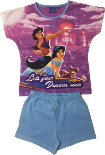Disney Aladdin Filles Pyjama court été Pyjama Âge 3-10 ans peut être Personnalisé