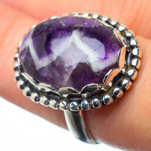 Chevron-Amethyst-925-Sterling-Silver-Ring-Size-7-Ana-Co-Jewelry-R28757F