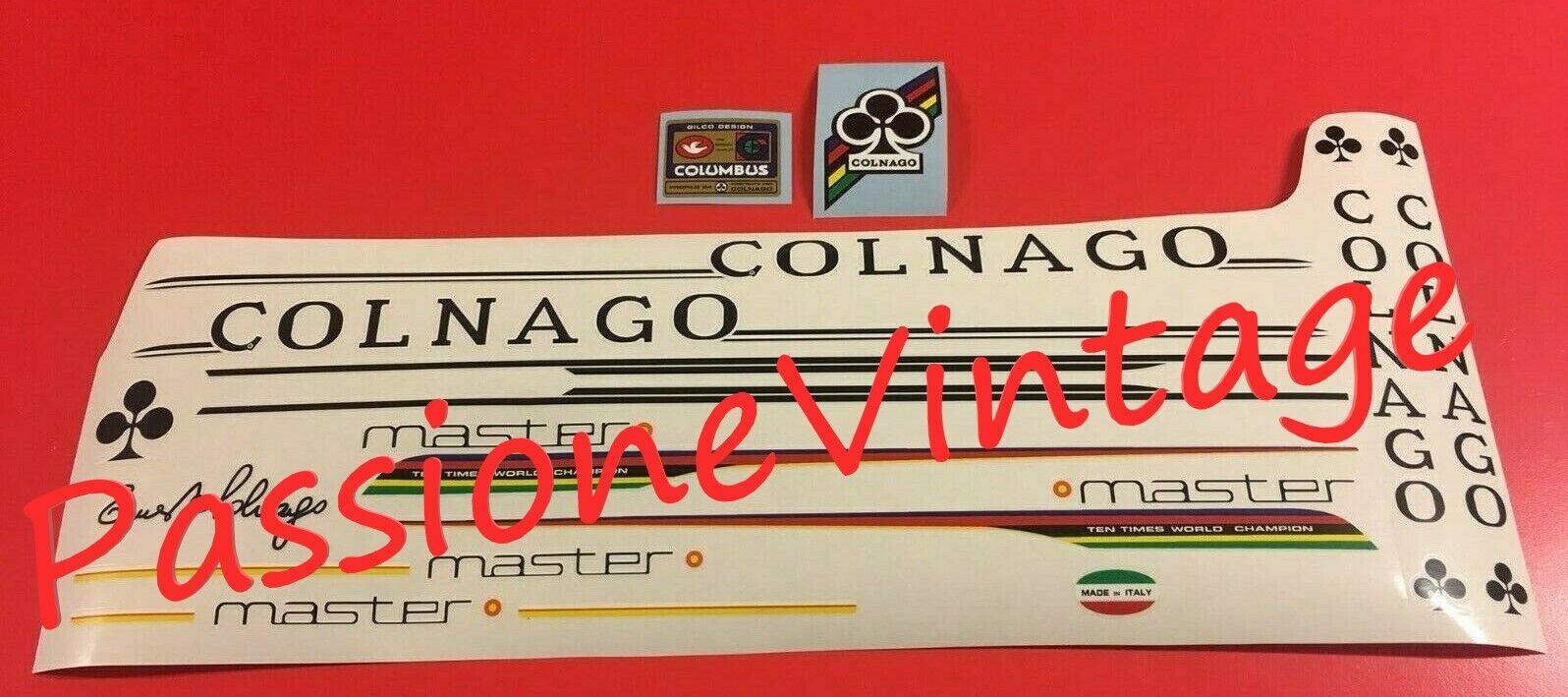 COLNAGO MASTER del 1987 Gilco kit decalcouomoieadesivistickers