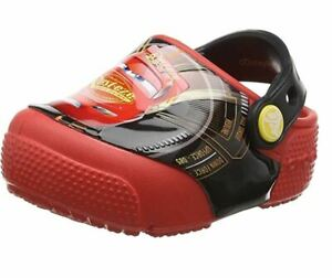 Crocs-Size-C-5-Cars-Lighting-McQueen-Light-Up-Sandals-New-Toddler-Shoes-Size