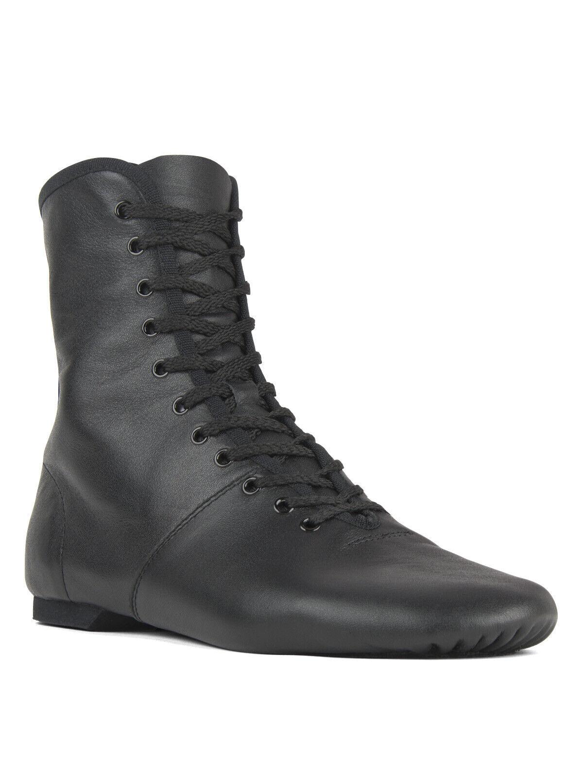 Rumpf 1292 Jazz Karneval Garde Stiefel Tanz Schuh Leder geteilte Sohle schwarz