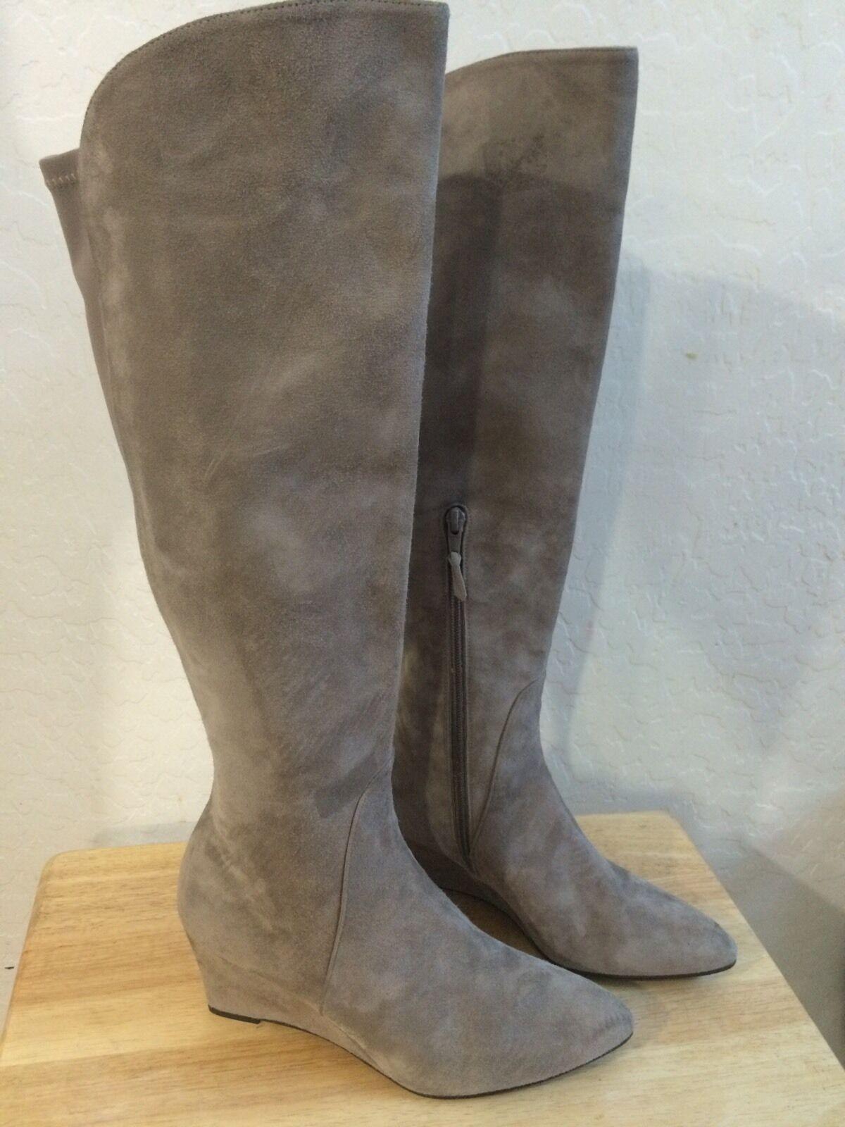 Stuart Weitzman Parkway  Topo Suede Wedge Boot  695 Size