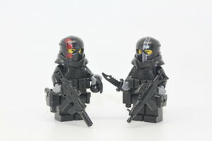 army of two custom military contractor minifigures made with real