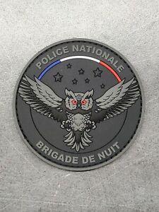 Ecusson brigade de nuit police Police Crs Collection pvc 3D