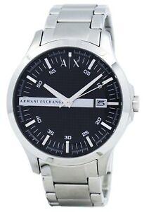 7ebf92386c7 La imagen se está cargando Armani-Exchange-negro-acero-inoxidable-AX2103- reloj-de-