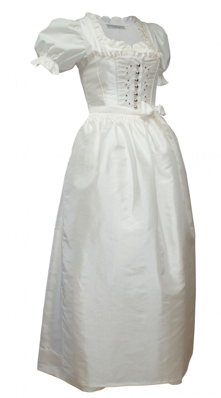 Hochzeitskleid Dirndl Brautkleid + Bluse Brautdirndl Braut-Dirndl Hochzeit creme