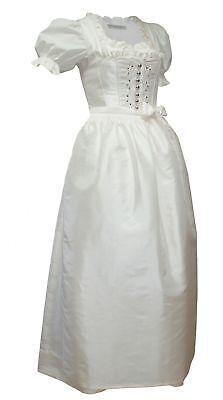 Selbstlos Hochzeitskleid Dirndl Brautkleid + Bluse Brautdirndl Braut-dirndl Hochzeit Creme Harmonische Farben
